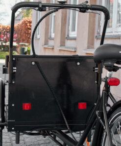 Træplade til kasse på ladcykel – Bagside Amladcykler