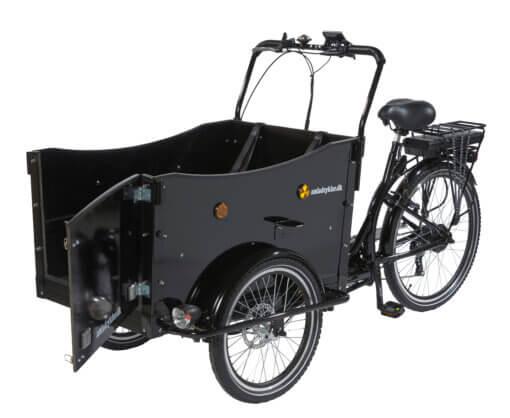 Hundeladcykel – el ladcykel til hund - sidehængt låge