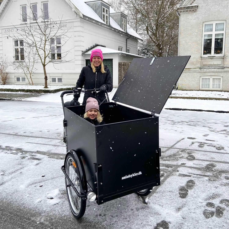 Vinterferie med ladcykel Amladcykler